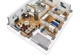 OKAZION ! Apartament 3+1 , 112 m2- 84.000 Euro , Shitje