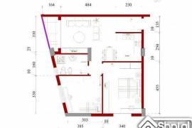 Apartament 2+1 me orientim nga jug-perendimi