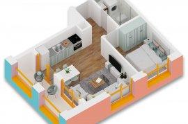 Okazion ! Apartament 1+1 , 59 m2 - 43000 Euro, Shitje